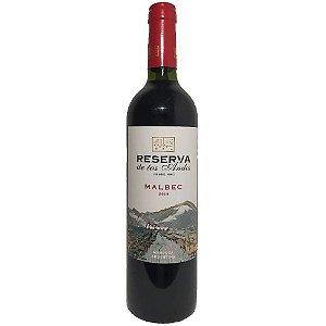 Vinho Reserva de Los Andes Malbec