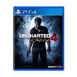 Jogo Uncharted 4 A Thief's End - PS4 (Capa Dura) Semi Novo
