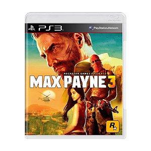 Jogo Max Payne 3 - PS3 (Capa Dura) Semi Novo