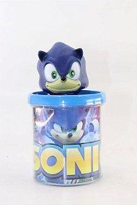 Caneca do Sonic em Acrílico + Boneco em Plástico