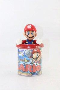 Caneca do Mario em Acrílico + Boneco em Plástico