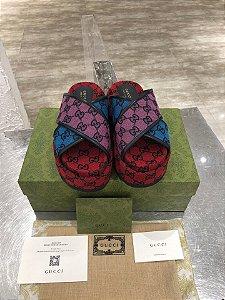 "Sandália Plataforma Gucci ""Multicolor"""