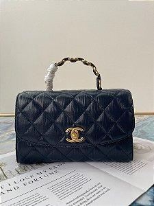 "Bolsa Chanel 19 Top Handle ""Steel Grey"""
