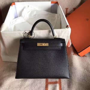 "Bolsa Hermès Kelly ""Black"" (PRONTA ENTREGA)"