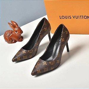 "Salto Louis Vuitton Cherie Monogram ""Black"" (PRONTA ENTREGA)"