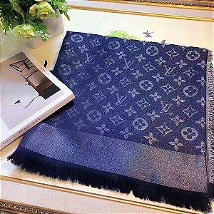 "Cachecol Louis Vuitton Monogram ""Blue""  (PRONTA ENTREGA)"