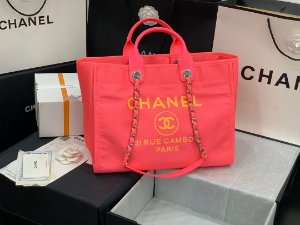 "Bolsa Chanel Deauville ""Neon Pink"""