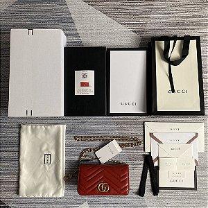 """Bolsa Gucci Marmont Mini """"Red"""""""