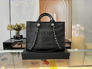 "Bolsa Chanel Deauville ""Black/Grey"" (PRONTA ENTREGA)"