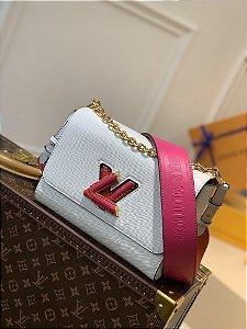 "Bolsa Louis Vuitton Twist MM ""Blanc"""