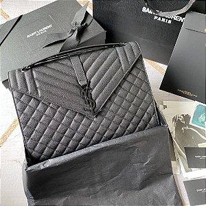 "Bolsa Saint Laurent Envelope Matelassê ""All Black"""