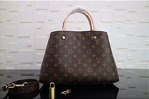 "Bolsa Louis Vuitton Montaigne MM Monogram ""Brown"""