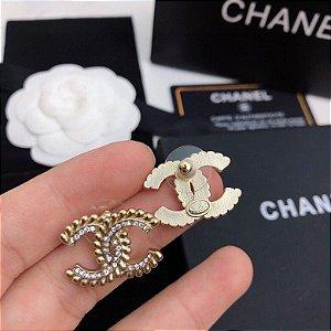 "Brinco Chanel ""Golden Silver"""