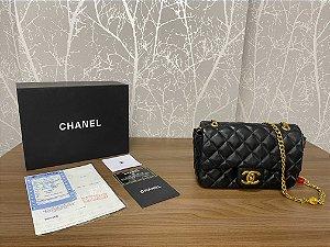 "Bolsa Chanel Single Flap ""Black"" (PRONTA ENTREGA)"