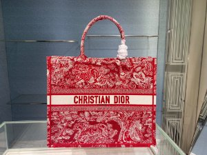 "Bolsa Tote Dior Book ""Raspberry"""