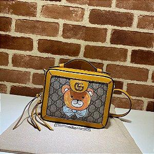 "Bolsa Gucci GG Supreme Bear Shoulder Bag ""Yellow"""