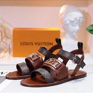 "Sandalia Louis Vuitton Academy Monogram ""Cognac"""
