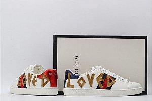 "Tênis Gucci Ace ""Loved"" (PRONTA ENTREGA)"