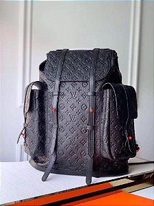 "Mochila Louis Vuitton Christopher Monogram ""Black and Orange"""