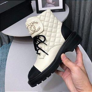 "Bota Chanel ""White"""