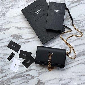 "Bolsa Saint Laurent Kate Monogram ""Black"""