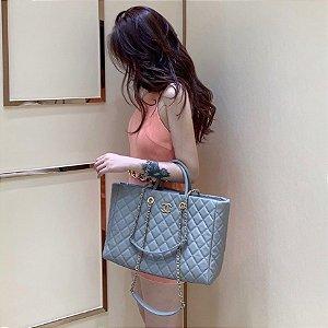 "Bolsa Chanel Tote ""Pastel Blue"""