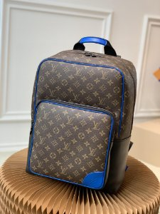 "Mochila Louis Vuitton Dean Monogram Macassar ""Blue"""