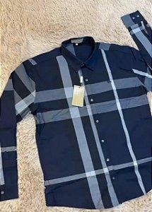"Camisa Burberry ""Xadrez-Blue"" (PRONTA ENTREGA)"