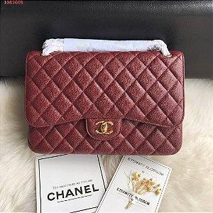 "Bolsa Chanel Double Flap ""Wine"""
