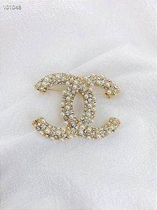"Broche Chanel ""Gold&Pearl"""