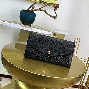 """Carteira Louis Vuitton Sarah Em Couro Monogram Empreinte """"Noir"""""""
