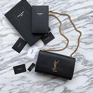 "Bolsa Saint Laurent Kate ""Black&Gold"""