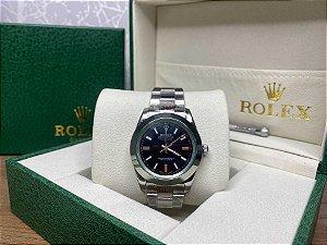 "Relógio Rolex Milgauss 40 mm ""Green"" (PRONTA ENTREGA)"