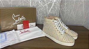 """Tênis Christian Louboutin Louis Spike """"Cream"""" (PRONTA ENTREGA)"""
