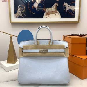 "Bolsa Hermès Birkin ""Blue&Silver"""