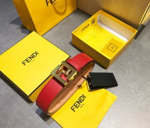 """Cinto Fendi """"Red&Gold"""""""