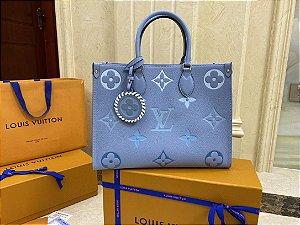 "Bolsa Louis Vuitton Onthego ""Blue"""