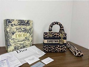"Bolsa Dior Lady D-Lite ""Bege Multicolor Mizza"" (PRONTA ENTREGA)"