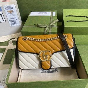 "Bolsa Gucci GG Marmont Matelassé ""Caramel Brown/Butter "" (PRONTA ENTREGA)"