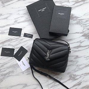 """Bolsa Saint Laurent LouLou Toy """"Black&Silver"""""""