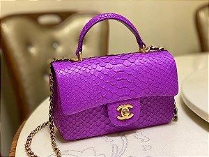 """Bolsa Chanel Top Handle """"Grape"""""""