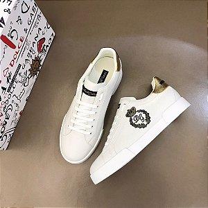 """Tênis Dolce & Gabbana """"White&Gold"""""""
