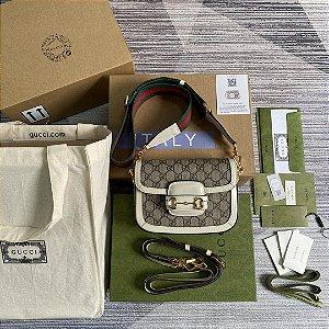 "Bolsa Gucci Mini Horsebit 1955 ""Ebony"" (PRONTA ENTREGA)"