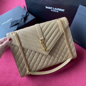"Bolsa Saint Laurent Envelope ""Beige&Gold"""