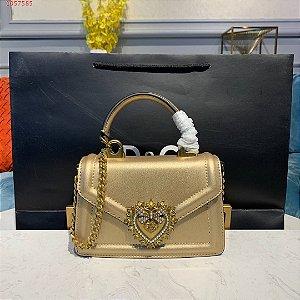 "Bolsa Dolce & Gabbana Devotion mini ""Gold"" (PRONTA ENTREGA)"