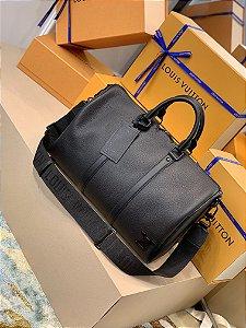"Bolsa de Viagem Louis Vuitton Keepall 40 Aerogram Bandoulière ""All Black"""