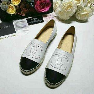 """Espadrille Chanel em Couro """"White"""" (PRONTA ENTREGA)"""