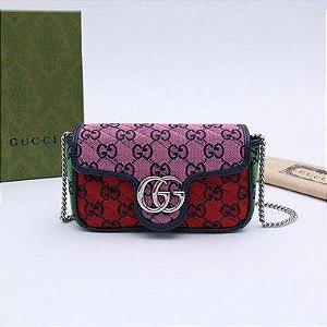 """Bolsa Gucci Marmont Mini """"Multicolor"""" (PRONTA ENTREGA)"""