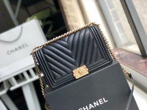 "Bolsa Chanel Boy ""Rough Black"" (PRONTA ENTREGA)"