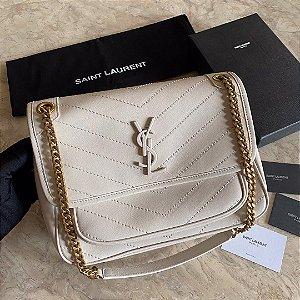 "Bolsa Saint Laurent Niki Média ""Blanc Vintage"""